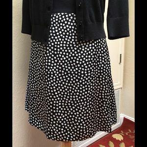 Kate Spade Spot Silk Flip skirt